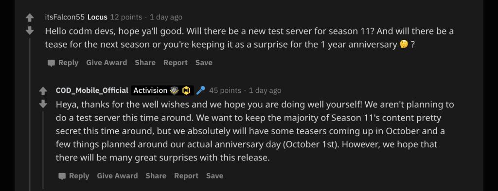 COD Mobile Season 11 Anniversary Update