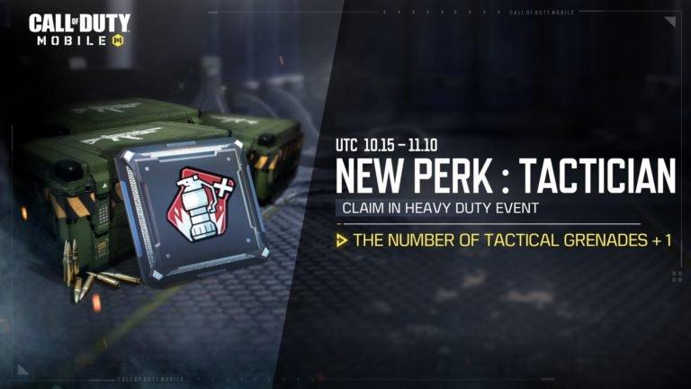 unlocking the tactician perk