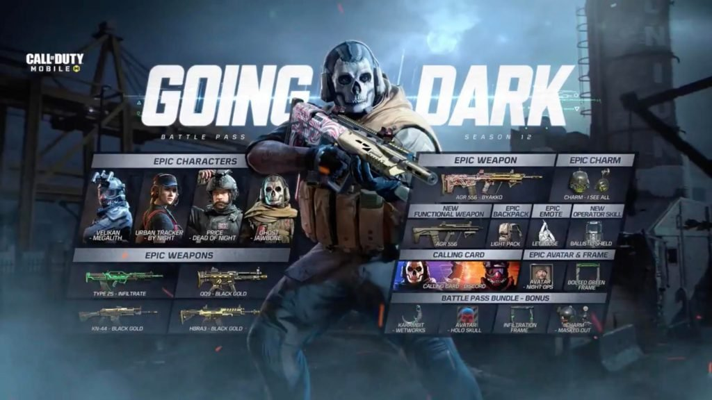 COD Mobile Season 12 Battle Pass Rewards