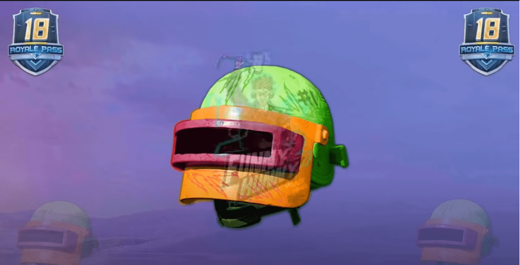 PUBG Mobile Season 18 Royale Pass leaks   Helmet SKin