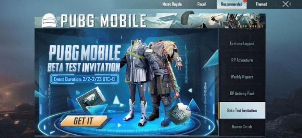 pubg mobile 1.4 beta code test intiative