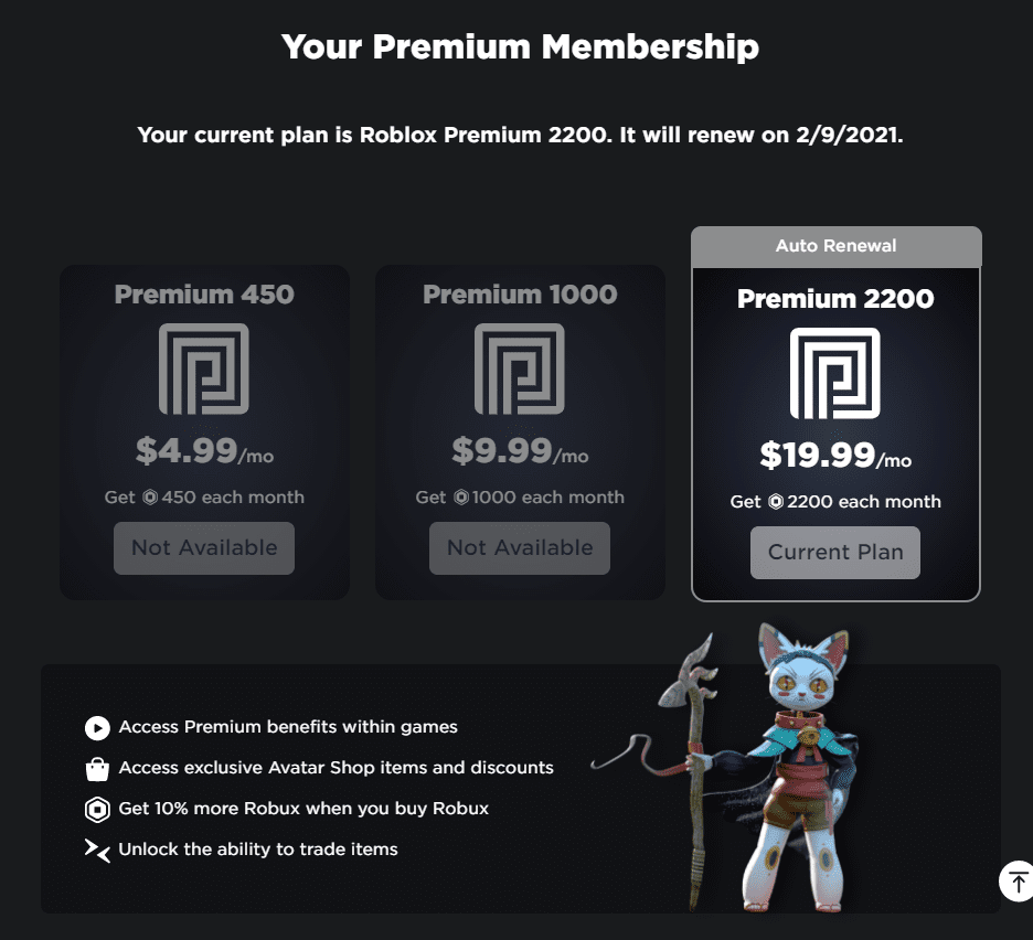 Roblox Memberships